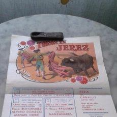 Carteles Toros: CARTEL TOROS EN JEREZ FERIA DEL CABALLO 1980 45 X 30 APROXIMADAMENTE. Lote 52995705
