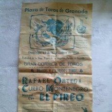 Carteles Toros: CARTEL TOROS PLAZA GRANADA 1966 22X43. Lote 53060955
