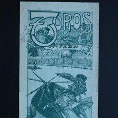 Carteles Toros: CARTEL DE TOROS DE JAÉN. 18 DE OCTUBRE DE 1914. JOSÉ M. OSTIONCITO, FRANCISCO POSADA Y JUAN BELMONTE. Lote 53097530