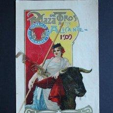Carteles Toros: CARTEL DE TOROS DE ALICANTE. 29 DE JUNIO DE 1909. RICARDO TORRES BOMBITA, RAFAEL GONZÁLEZ MACHAQUITO. Lote 53097556