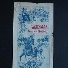 Carteles Toros: CARTEL DE TOROS DE CASTELLÓN. 2 DE MARZO DE 1913. BOMBITA, RAFAEL GÓMEZ GALLITO Y JOSÉ GÓMEZ GALLITO. Lote 53097930