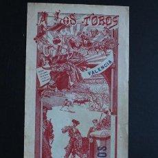 Carteles Toros: CARTEL DE TOROS DE VALENCIA. 29 DE JULIO DE 1909. MARTÍ FLORES, PUNTERET Y OSTIONCITO.. Lote 53097964