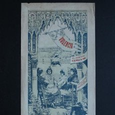 Carteles Toros: CARTEL DE TOROS DE VALENCIA. 16 DE MAYO DE 1909. GORDET, MARTÍ FLORES Y ANDRÉS DEL CAMPO DOMINGUÍN.. Lote 53097977