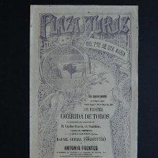 Carteles Toros: CARTEL DE TOROS DEL PUERTO DE SANTA MARÍA. 30 DE MAYO DE 1897. GUERRITA Y ANTONIO FUENTES.. Lote 53098110