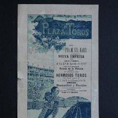 Carteles Toros: CARTEL DE TOROS DEL PUERTO DE SANTA MARÍA. 29 DE AGOSTO DE 1897. LUIS MAZZANTINI Y ANTONIO FUENTES. Lote 53098153