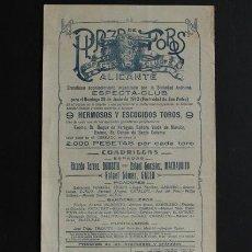 Carteles Toros: CARTEL DE TOROS DE ALICANTE. 29 DE JUNIO DE 1913. BOMBITA, MACHAQUITO Y RAFAEL GÓMEZ GALLO.. Lote 53278574