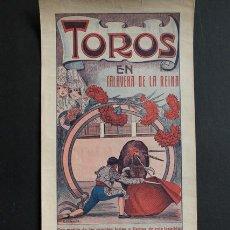 Carteles Toros: CARTEL DE TOROS DE TALAVERA DE LA REINA. 15, 16 Y 17 DE MAYO DE 1926. MÁRQUEZ, GITANILLO Y ARMILLITA. Lote 53279065
