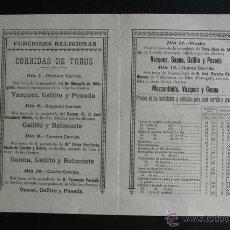 Carteles Toros: PROGRAMA DE TOROS DE PAMPLONA. 6 AL 18 DE JULIO DE 1914. GALLITO, BELMONTE, GAONA, POSADA. Lote 53389928