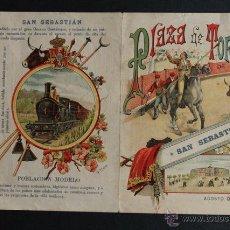 Carteles Toros: PROGRAMA DE TOROS DE SAN SEBASTIÁN. DÍAS 9, 15, 16, 23 Y 30 DE AGOSTO DE 1896. MAZZANTINI.. Lote 53390295