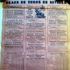 Carteles Toros: CARTEL TOROS SEVILLA FERIA ABRIL 1959. Lote 53557718