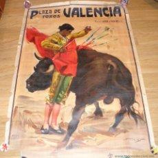 Carteles Toros: CARTEL DE PLAZA DE TODOS DE VALENCIA DE J. REUS - LITOGRAFIA ORTEGA. Lote 53730070