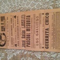 Carteles Toros: CARTEL DE TOROS AÑO 1969 EN MEDINA DE POMAR,BURGOS. Lote 53770256