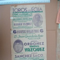 Carteles Toros: PLAZA DE TOROS DE ECIJA ( SEPTIEMBRE DE 1950). Lote 54468138