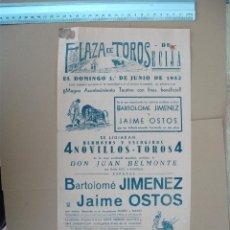 Carteles Toros: PLAZA DE TOROS DE ECIJA ( JUNIO DE 1952). Lote 54468779