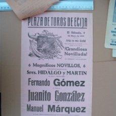Carteles Toros: PLAZA DE TOROS DE ECIJA ( MAYO 1953). Lote 54469075