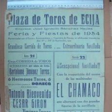 Carteles Toros: PLAZA DE TOROS DE ECIJA ( SEPTIEMBRE DE 1954). Lote 54469987