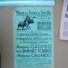 Carteles Toros: PLAZA DE TOROS DE SEVILLA (MAYO DE 1953). Lote 54470163