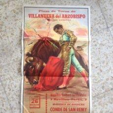 Carteles Toros: VILLANUEVA DEL ARZOBISPO-TOROS-CARTEL TAURINO. Lote 54513235