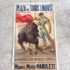 Carteles Toros: CARTEL DE CORRIDAS PLAZA DE TOROS DE LINARES 19-JUNIO-1966. Lote 54513734