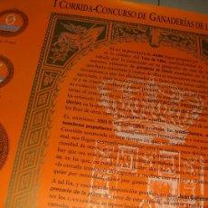 Carteles Toros: I CORRIDA CONCURSO DE GANADERIAS DE LA PROVINCIA, JAEN. TOROS.. Lote 54564504