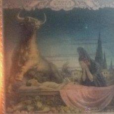 Carteles Toros: LA MUERTE DE MANOLETE , LITOGRAFÍA, JESUS HELGUERA 45 X 45. Lote 54594317