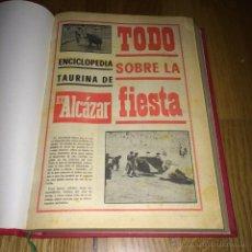 Carteles Toros: ENCICLOPEDIA TAURINA EL ALCAZAR COMPLETA AÑOS 70. Lote 54658972