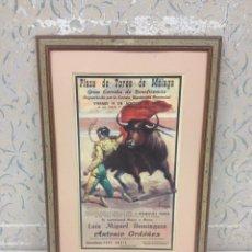 Carteles Toros: CARTEL-TAURINO-PLAZA TOROS MÁLAGA-1959-LUIS MIGUEL DOMINGUÍN Y ANTONIO ORDOÑEZ. Lote 54757011