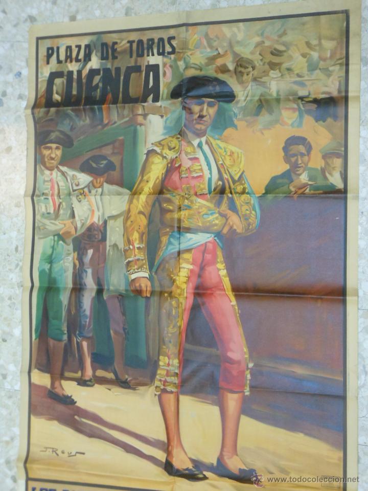 1949 CARTEL GIGANTE DE TOROS DE CUENCA POR J. REUS - LUIS Y PEPE DOMINGUIN - JULIO APARICIO (Coleccionismo - Carteles Gran Formato - Carteles Toros)