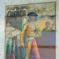 Carteles Toros: 1949 CARTEL GIGANTE DE TOROS DE CUENCA POR J. REUS - LUIS Y PEPE DOMINGUIN - JULIO APARICIO. Lote 54951571