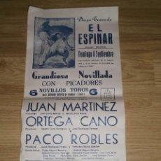 Carteles Toros: CARTEL TOROS - PLAZA DE TOROS DE EL ESPINAR - 8 DE SEPTIEMBRE - 6 TOROS DE GERMÁN GERVÁS DE ANDUJAR. Lote 55161731