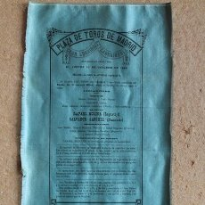 Carteles Toros: CARTEL DE TOROS DE MADRID. GRAN CORRIDA EXTRAORDINARIA. 30 DE OCTUBRE DE 1884. LAGARTIJO Y FRASCUELO. Lote 55228433
