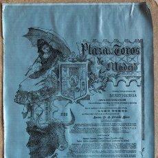 Carteles Toros: CARTEL DE TOROS DE MADRID. BENEFICENCIA. 14 DE MAYO DE 1905. BOMBITA CHICO, LAGARTIJO, COCHERITO . Lote 55228540