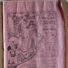 Carteles Toros: CARTEL DE TOROS DE MADRID. 27 DE MAYO DE 1906. BENEFICENCIA. LAGARTIJILLO, A. FUENTES, A. MONTES. Lote 55228615