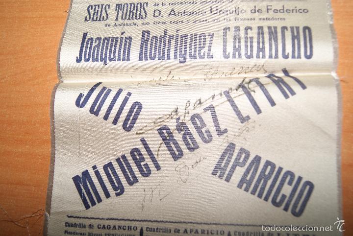 Carteles Toros: CARTEL DE TOROS DE SEDA 12 OCTUBRE 1950 ALTERNATIVA DE JULIO APARICIO Y LITRI - Foto 3 - 55235438