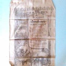 Carteles Toros: CARTEL DE SEDA DEL AÑO 1898. Lote 55949296