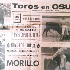 Carteles Toros: CARTEL DE OSUNA. Lote 55949777