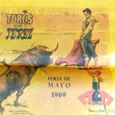Carteles Toros: CARTEL DE JEREZ DE SEDA DEL AÑO 1969. Lote 56036505