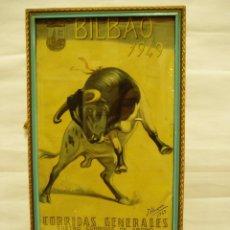 Carteles Toros: CARTEL DE TOROS ENMARCADO DE BILBAO 1949. Lote 56126496