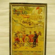 Carteles Toros: CARTEL DE TOROS ENMARCADO DE BILBAO 1957. Lote 56126545