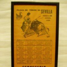 Carteles Toros: CARTEL DE SEDA 1999 PLAZA DE TOROS DE SEVILLA. CURRO ROMERO, ESPARTACO, JOSE TOMÁS...... Lote 56161746