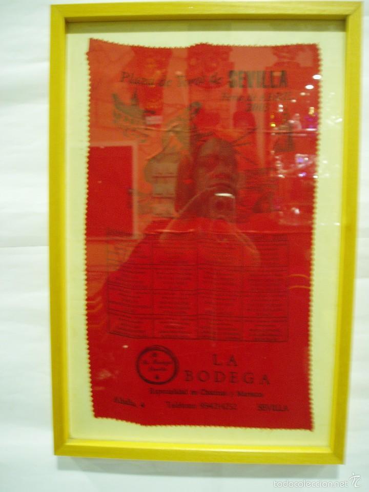 CARTEL DE SEDA PLAZA DE TOROS DE SEVILLA .FERIA DE ABRIL 2003, ENRIQUE PONCE, MORANTE DE LA PUEBLA, (Coleccionismo - Carteles Gran Formato - Carteles Toros)