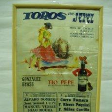 Carteles Toros: CARTEL DE SEDA 1977 JEREZ, FERIA DEL CABALLO, LUPI, PACO CAMINO, CURRO ROMERO, RIVERA PAQUIRRI,. Lote 56162275