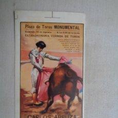 Carteles Toros: PLAZA DE TOROS MONUMENTAL.BARCELONA.T-214. Lote 56381809
