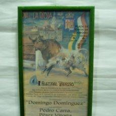 Carteles Toros: CARTEL DE TOROS DE LOGROÑO 1997, 9 JUNIO, DÍA DE LA RIOJA, ENMARCADO. Lote 56723296