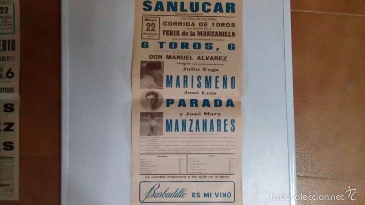 CARTEL DE TOROS DE SANLUCAR AÑO 1977 (Coleccionismo - Carteles Gran Formato - Carteles Toros)