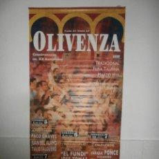 Carteles Toros: GRAN CARTEL PLAZA DE TOROS DE OLIVENZA , 2010. Lote 57120084