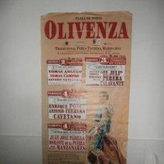 Carteles Toros: GRAN CARTEL PLAZA DE TOROS DE OLIVENZA , 2012. Lote 57120247