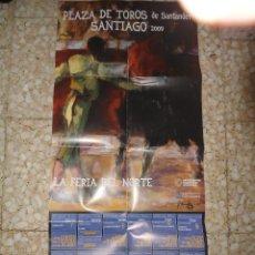 Cartazes Touros: CARTEL TOROS SANTANDER - SANTIAGO 2009. Lote 81974955