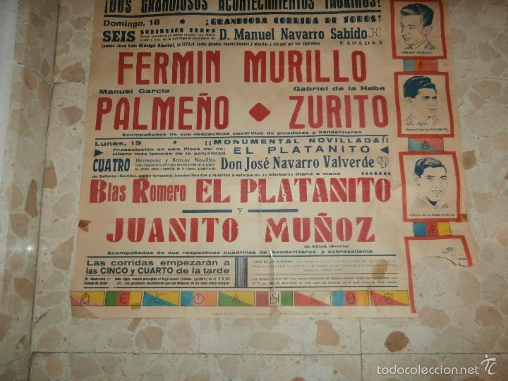 Carteles Toros: CARTEL DE TOROS PLAZA DE OLIVENZA , 1966 - Foto 3 - 57280930
