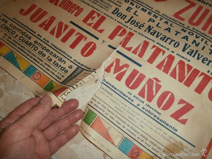 Carteles Toros: CARTEL DE TOROS PLAZA DE OLIVENZA , 1966 - Foto 5 - 57280930